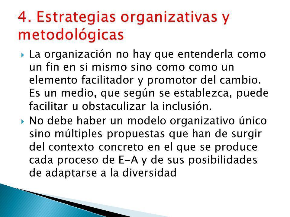 4. Estrategias organizativas y metodológicas