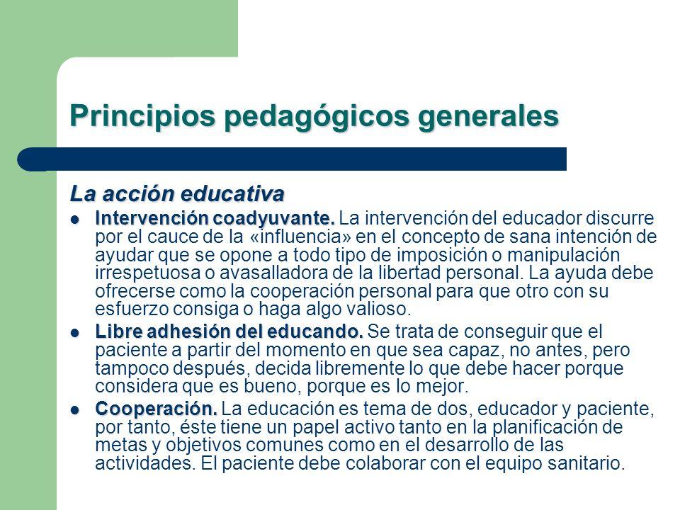 Principios pedagógicos generales