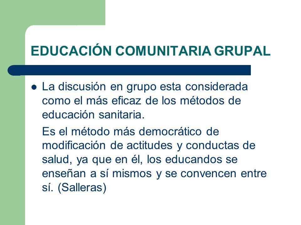 EDUCACIÓN COMUNITARIA GRUPAL