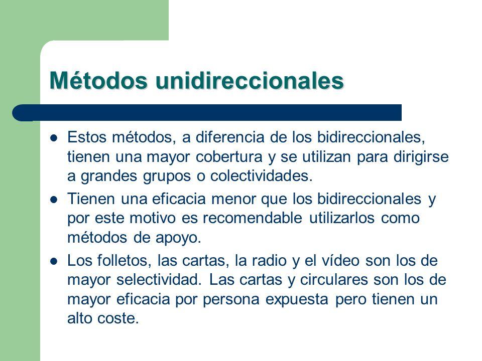 Métodos unidireccionales