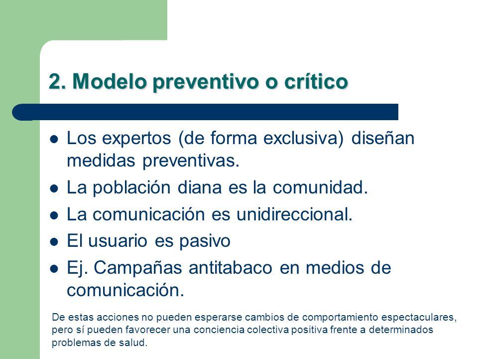 2. Modelo preventivo o crítico