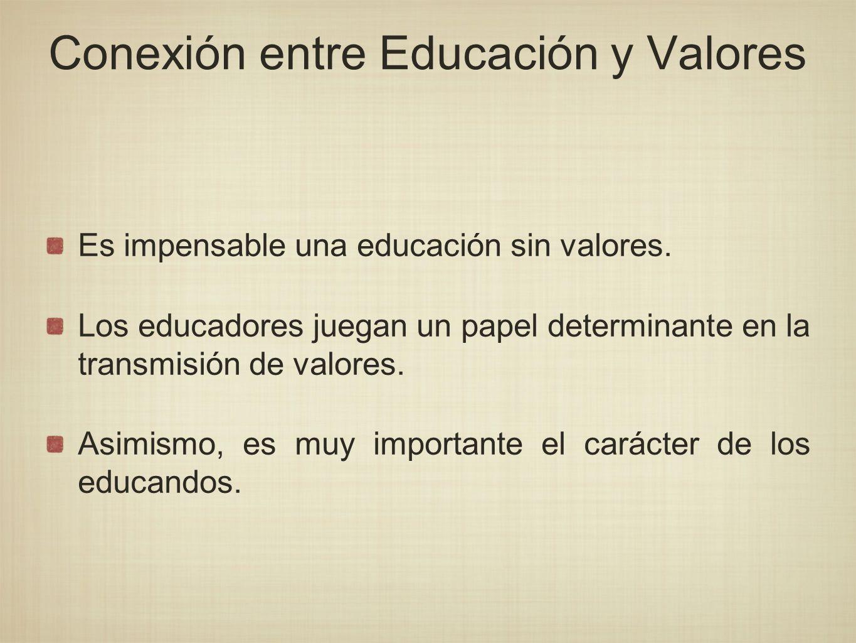 Conexión entre Educación y Valores