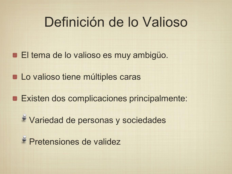 Definición de lo Valioso