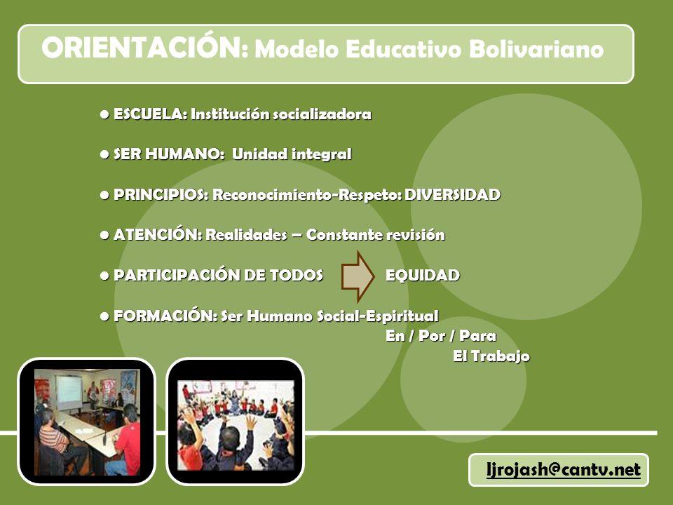 ORIENTACIÓN: Modelo Educativo Bolivariano