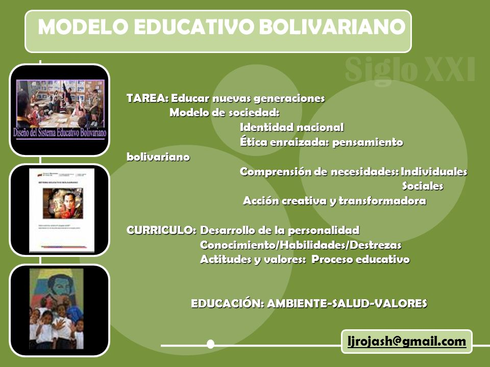 MODELO EDUCATIVO BOLIVARIANO