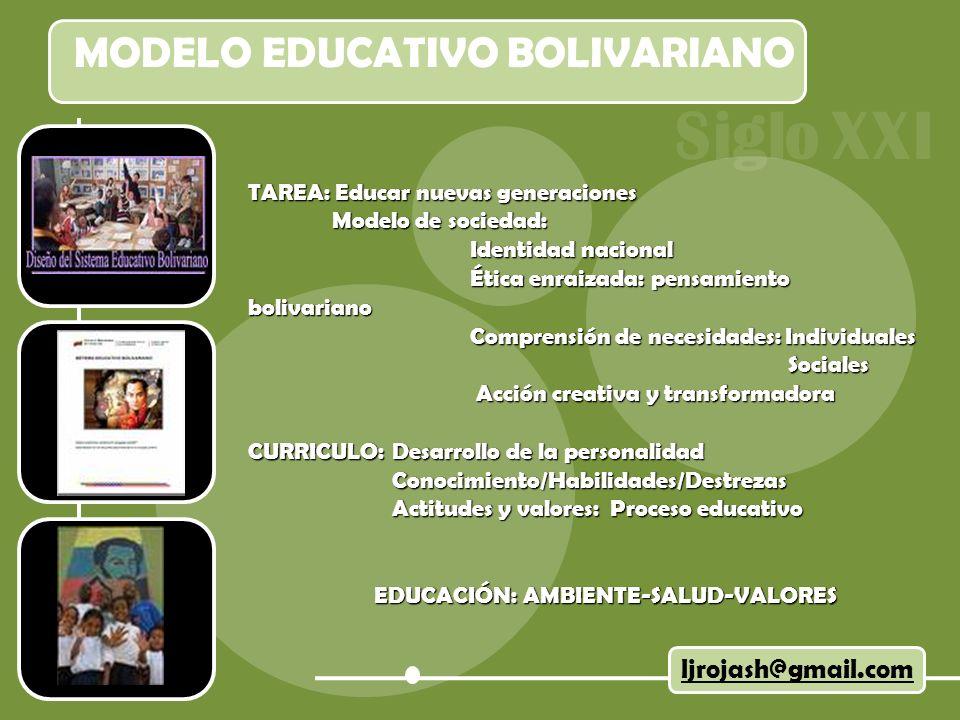MODELO EDUCATIVO BOLIVARIANO