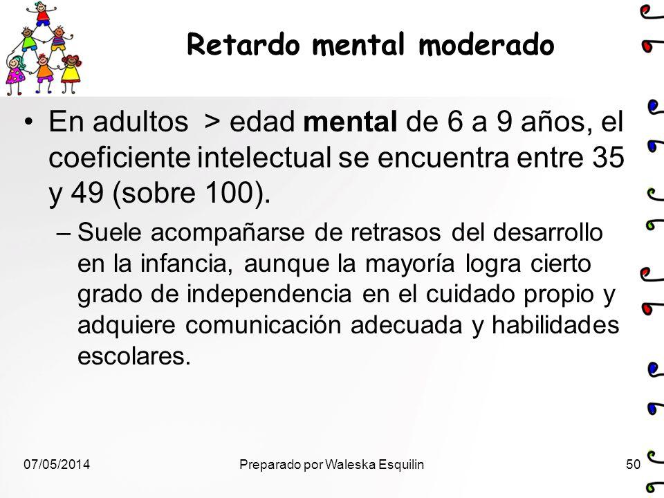 Retardo mental moderado