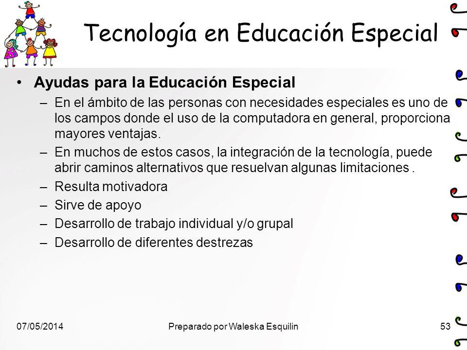 Tecnología en Educación Especial