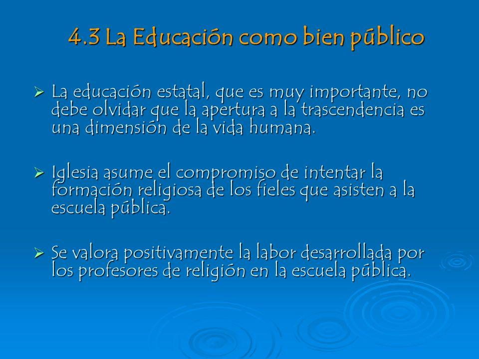 4.3 La Educación como bien público