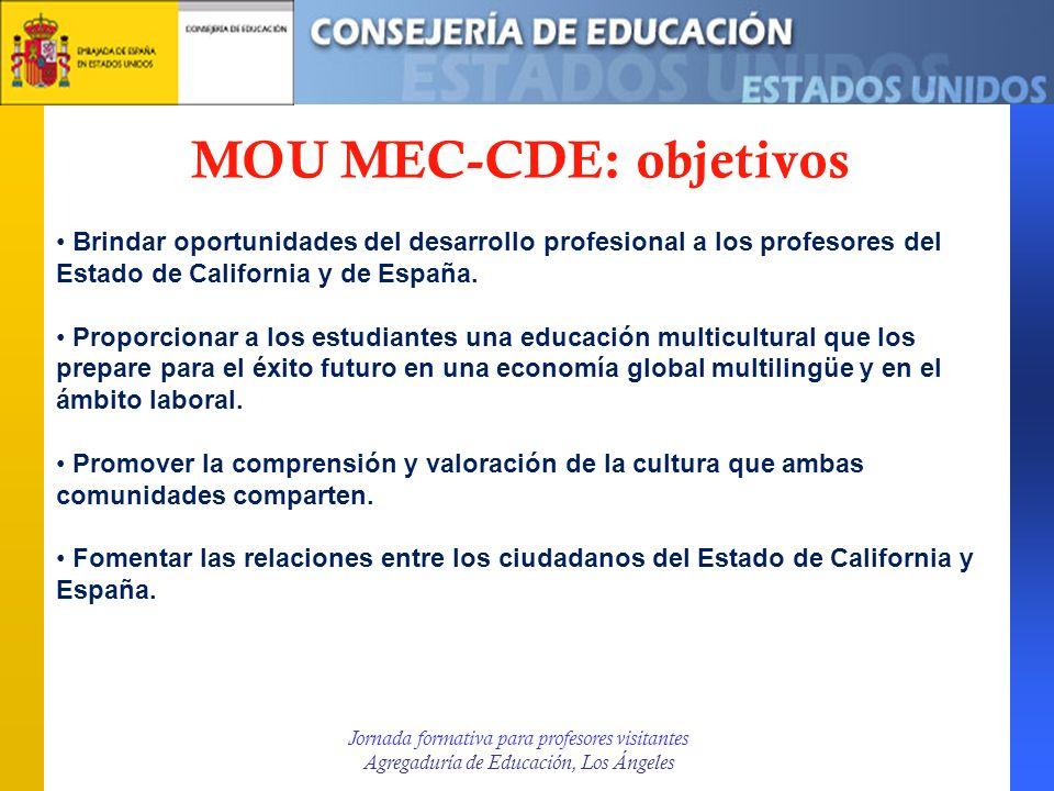 MOU MEC-CDE: objetivos