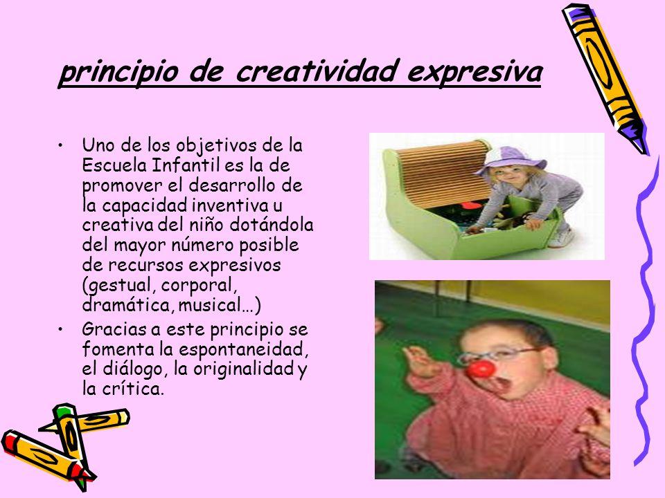 principio de creatividad expresiva