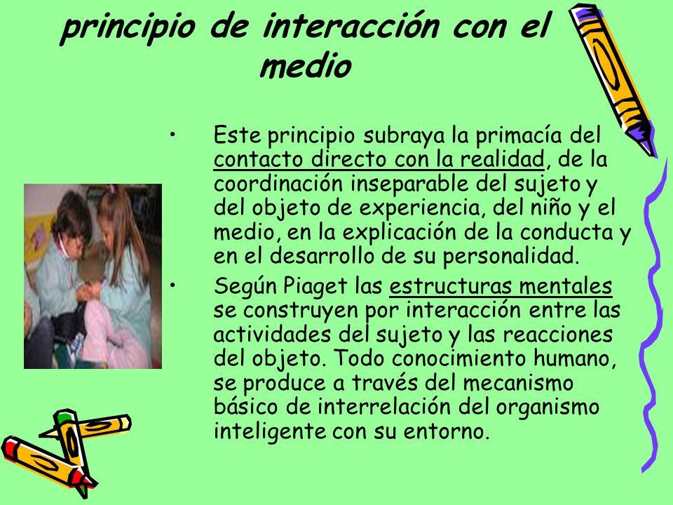 principio de interacción con el medio