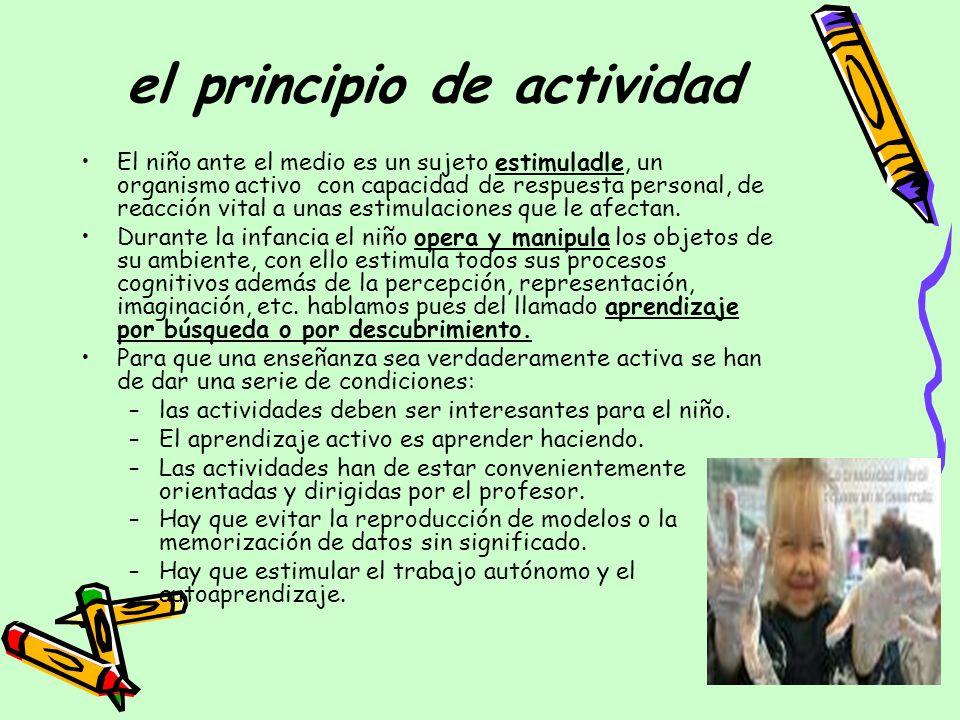 el principio de actividad