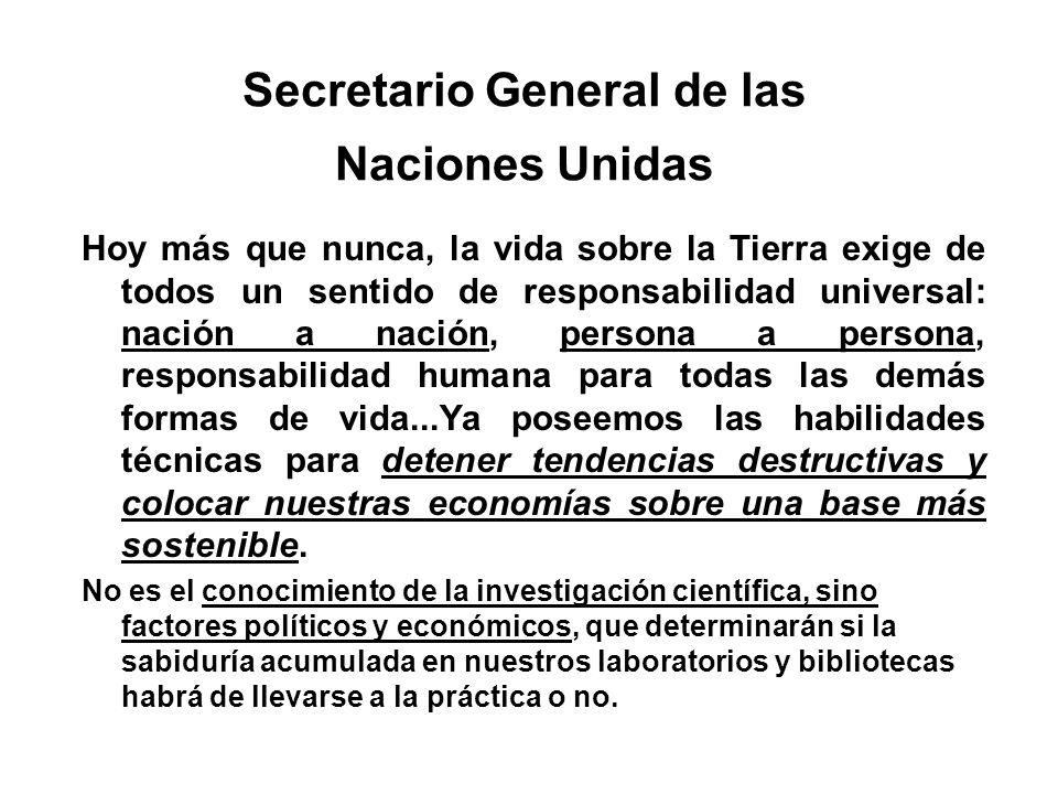 Secretario General de las Naciones Unidas