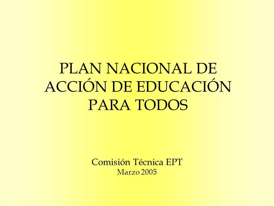 PLAN NACIONAL DE ACCIÓN DE EDUCACIÓN PARA TODOS