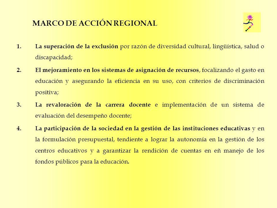 MARCO DE ACCIÓN REGIONAL