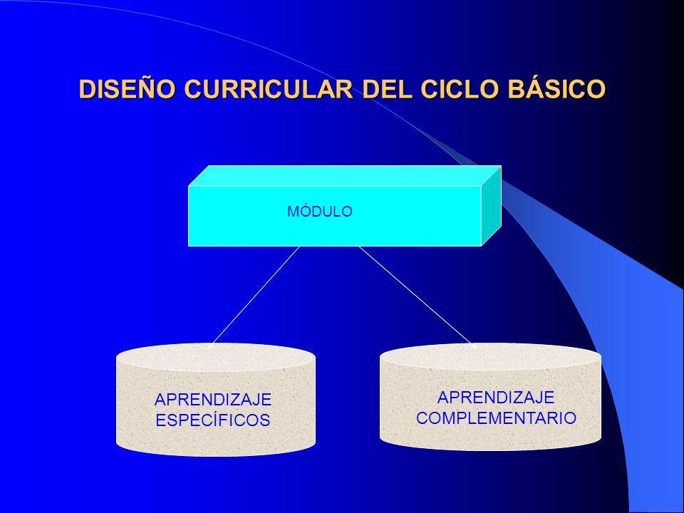 DISEÑO CURRICULAR DEL CICLO BÁSICO