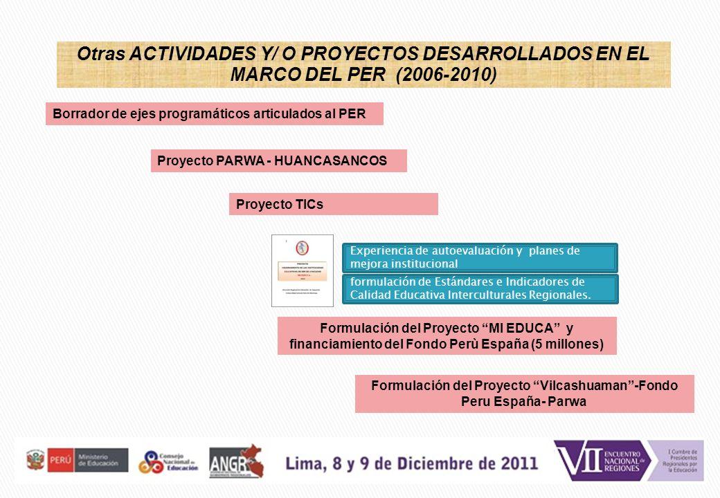 Formulación del Proyecto Vilcashuaman -Fondo Peru España- Parwa