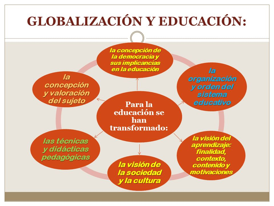 GLOBALIZACIÓN Y EDUCACIÓN: