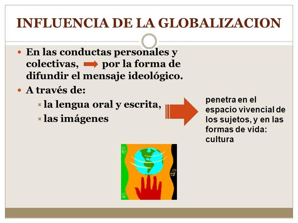 INFLUENCIA DE LA GLOBALIZACION