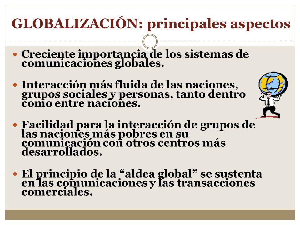 GLOBALIZACIÓN: principales aspectos
