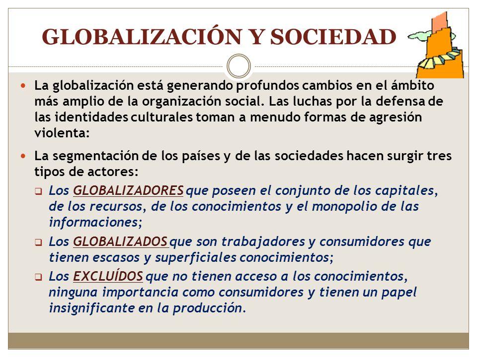 GLOBALIZACIÓN Y SOCIEDAD
