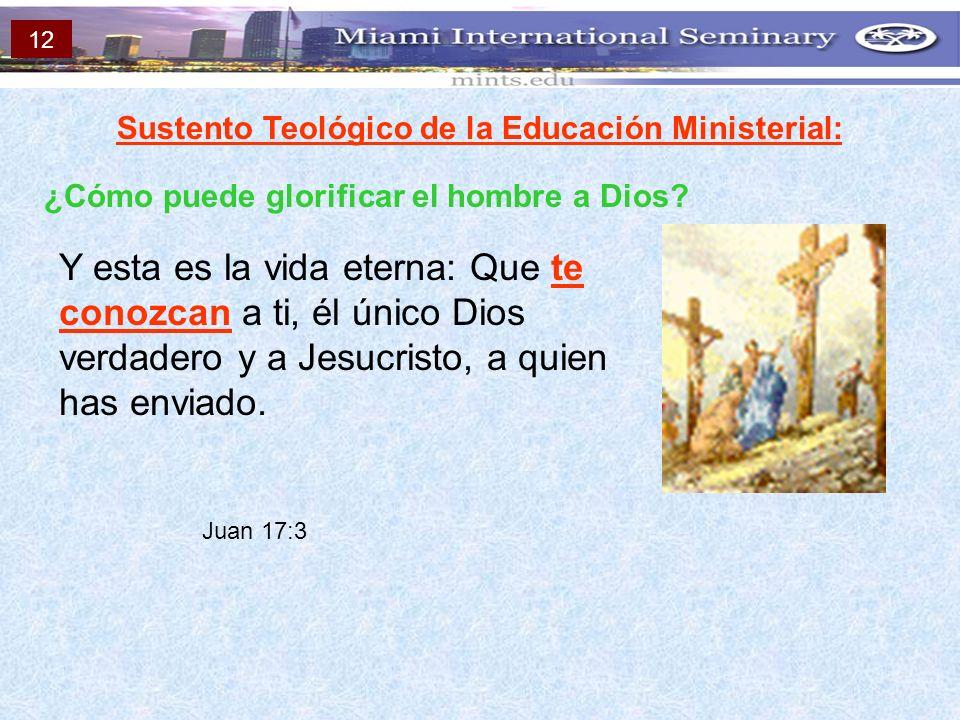 Sustento Teológico de la Educación Ministerial: