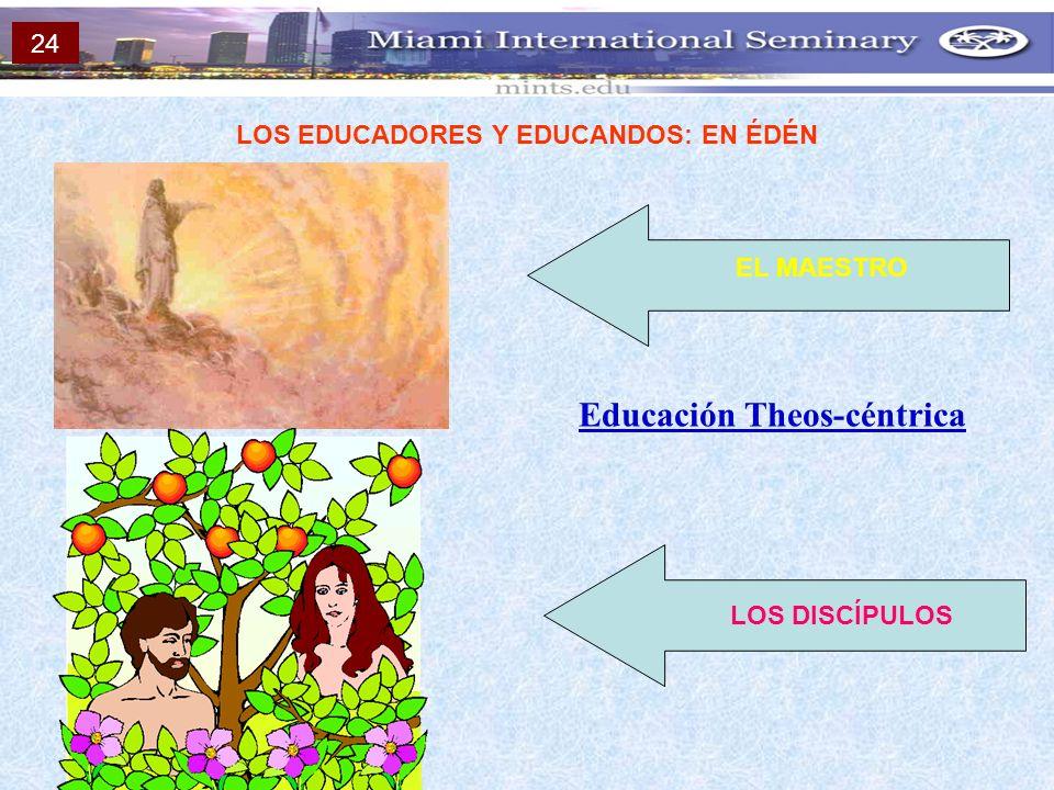 LOS EDUCADORES Y EDUCANDOS: EN ÉDÉN Educación Theos-céntrica