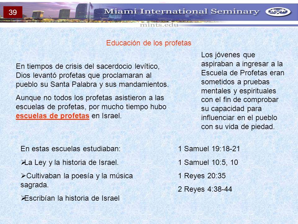Educación de los profetas