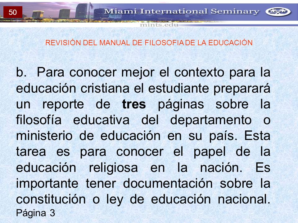 REVISIÓN DEL MANUAL DE FILOSOFIA DE LA EDUCACIÓN