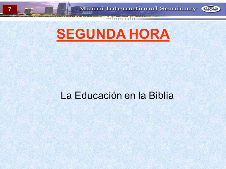 La Educación en la Biblia
