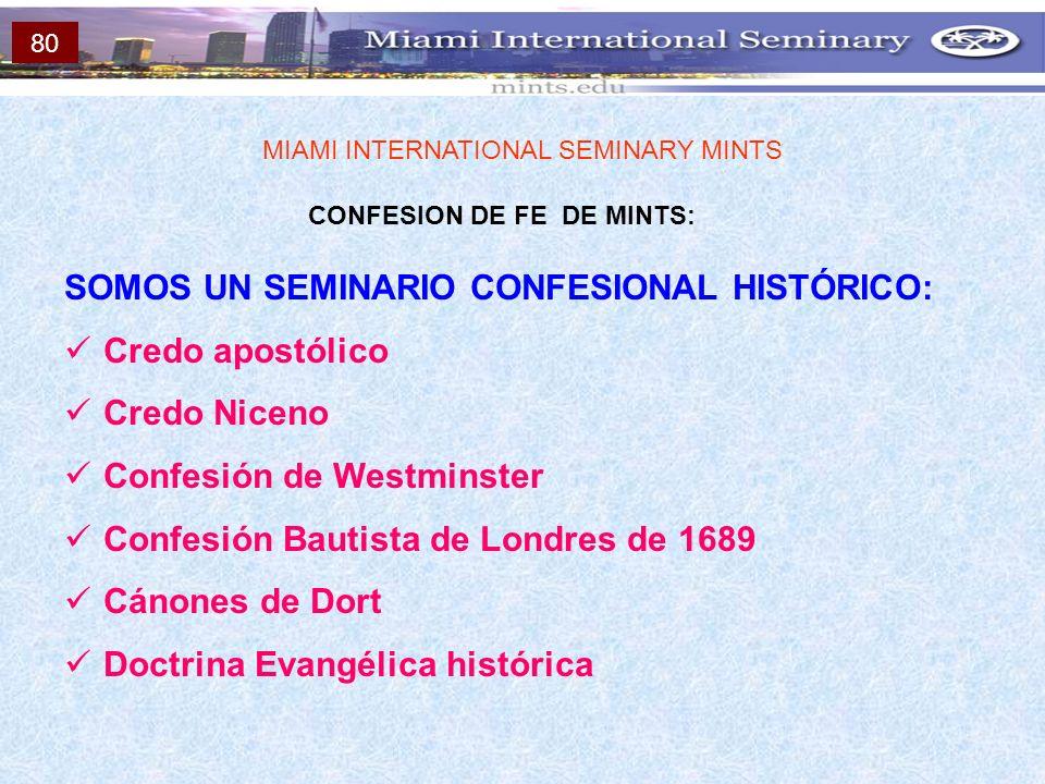 CONFESION DE FE DE MINTS: