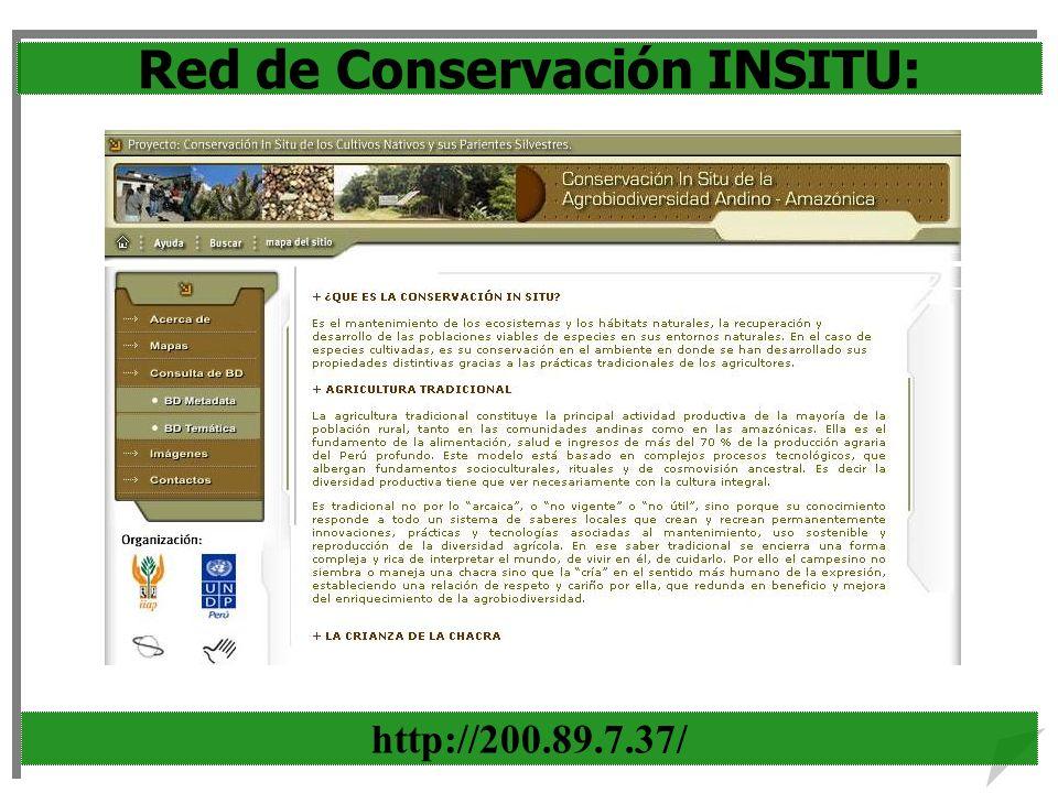 Red de Conservación INSITU: