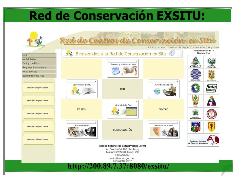 Red de Conservación EXSITU: