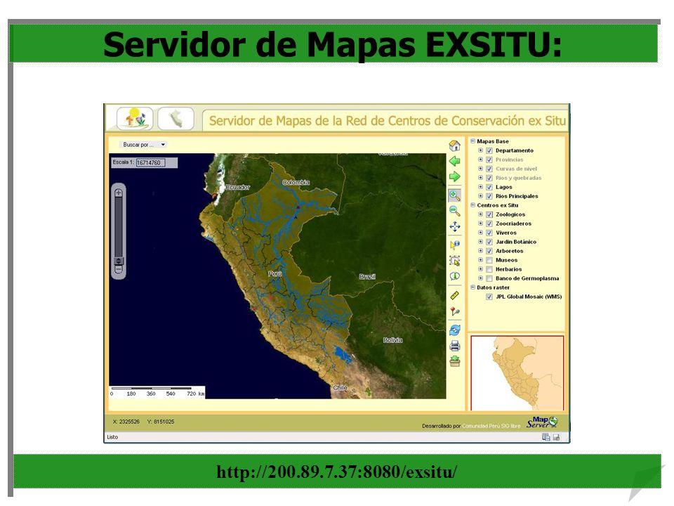 Servidor de Mapas EXSITU: