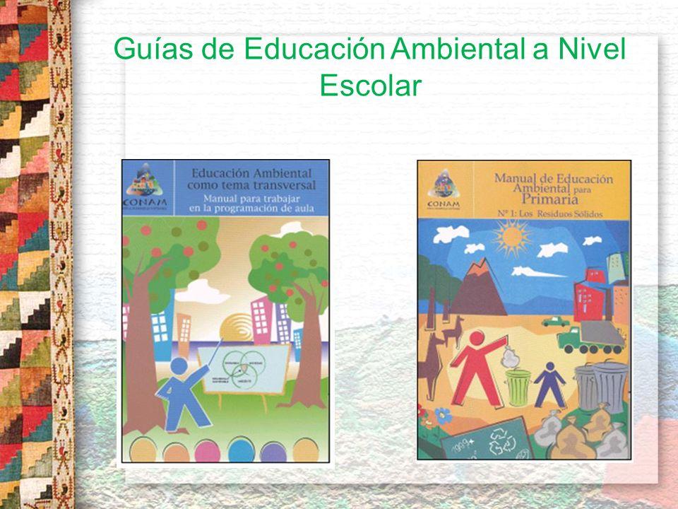 Guías de Educación Ambiental a Nivel Escolar