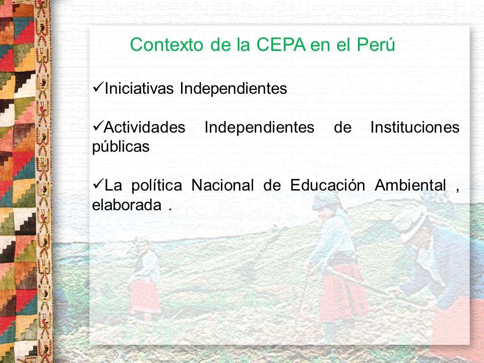 Contexto de la CEPA en el Perú