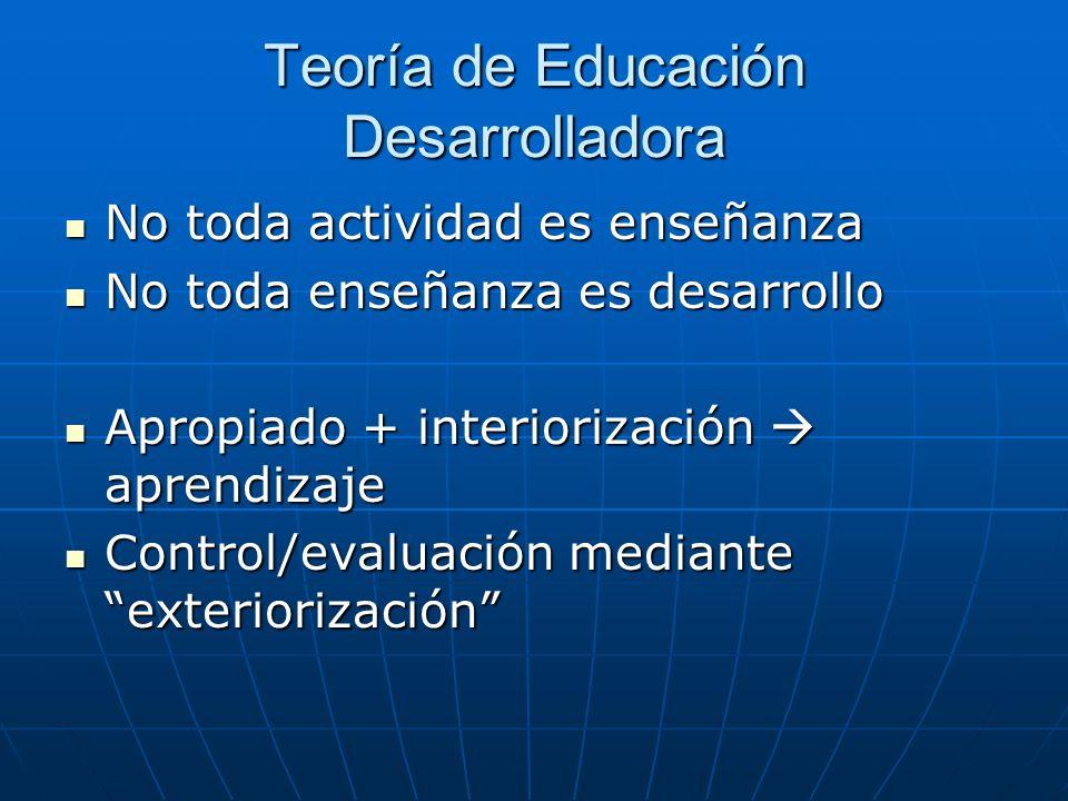 Teoría de Educación Desarrolladora