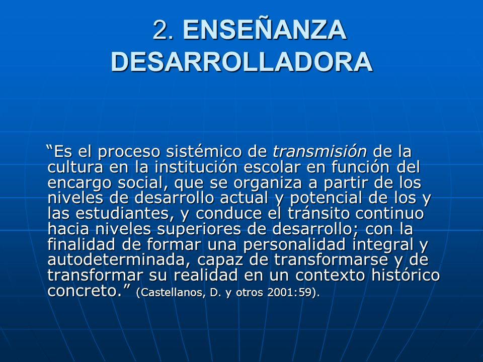 2. ENSEÑANZA DESARROLLADORA