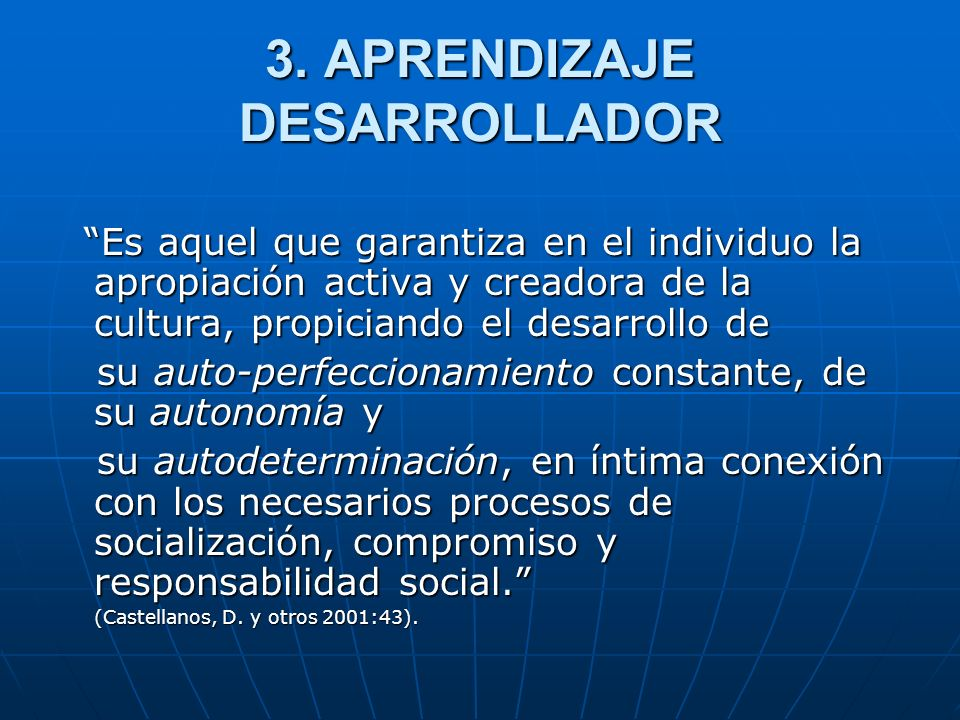 3. APRENDIZAJE DESARROLLADOR