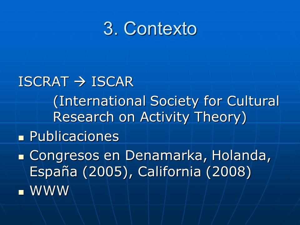 3. Contexto ISCRAT  ISCAR