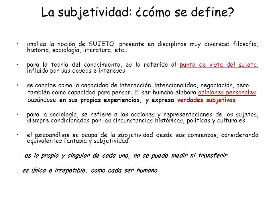 La subjetividad: ¿cómo se define