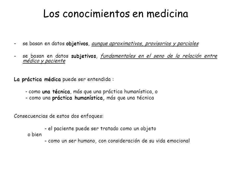 Los conocimientos en medicina