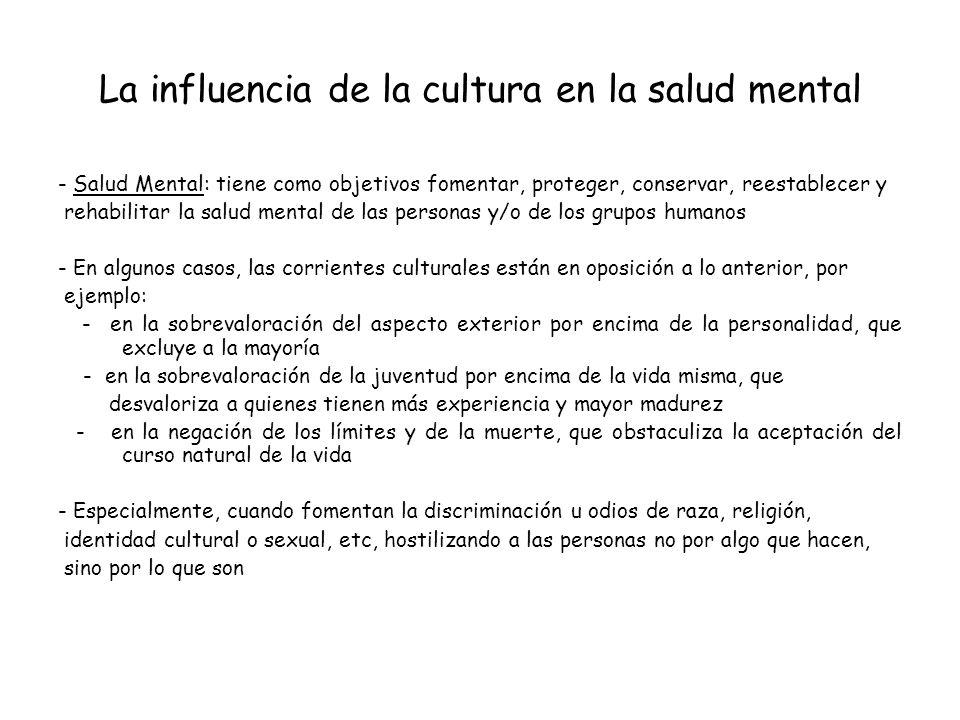 La influencia de la cultura en la salud mental