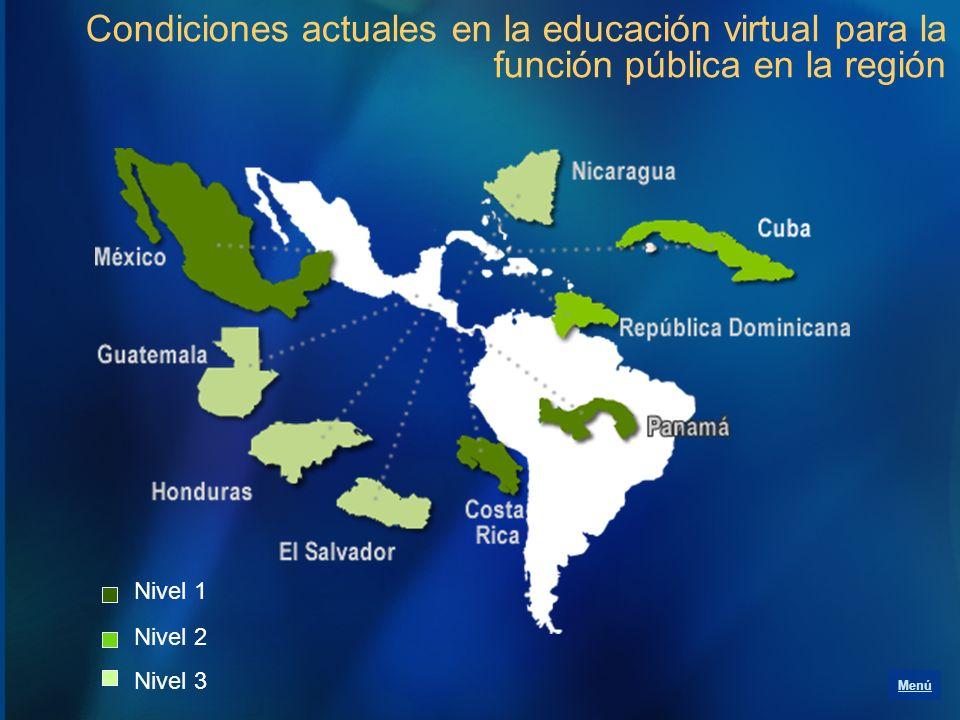Condiciones actuales en la educación virtual para la función pública en la región