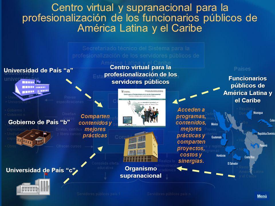 Centro virtual y supranacional para la profesionalización de los funcionarios públicos de América Latina y el Caribe