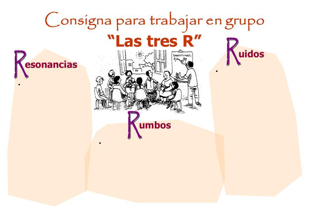 Consigna para trabajar en grupo Las tres R