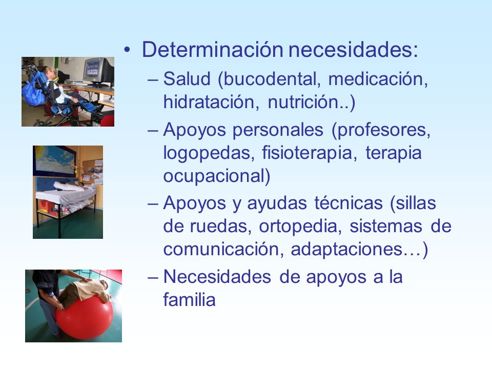 Determinación necesidades: