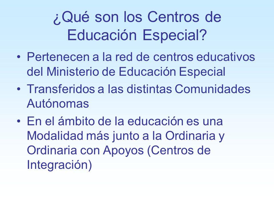 ¿Qué son los Centros de Educación Especial