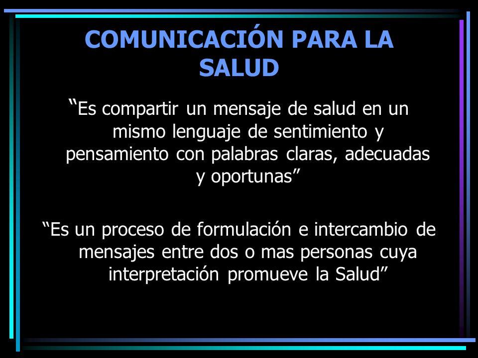 COMUNICACIÓN PARA LA SALUD